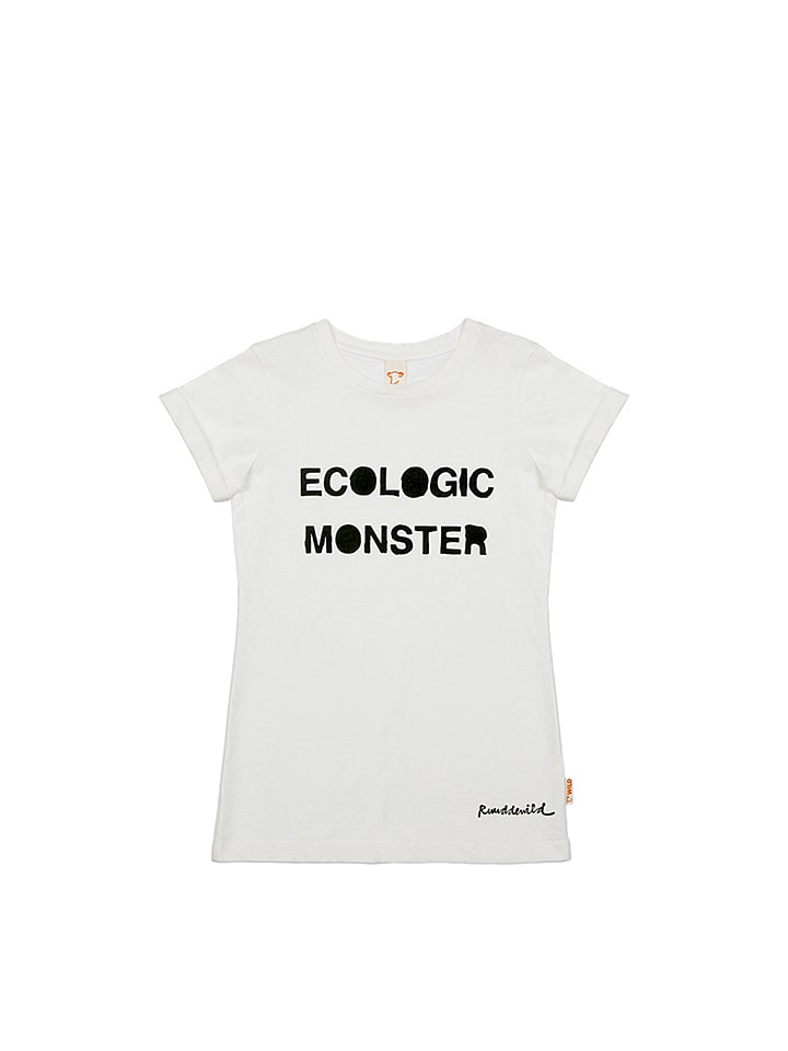 WILD Shirt ´´Eco Monster´´ in Weiß - 78% | Größ...