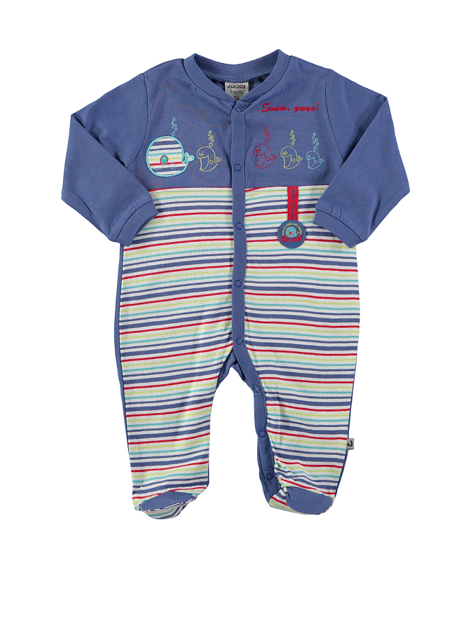 Jacky Schlafstrampler ´´Whales Gang´´ in dunkelblau -29 Größe 92 Pyjamas
