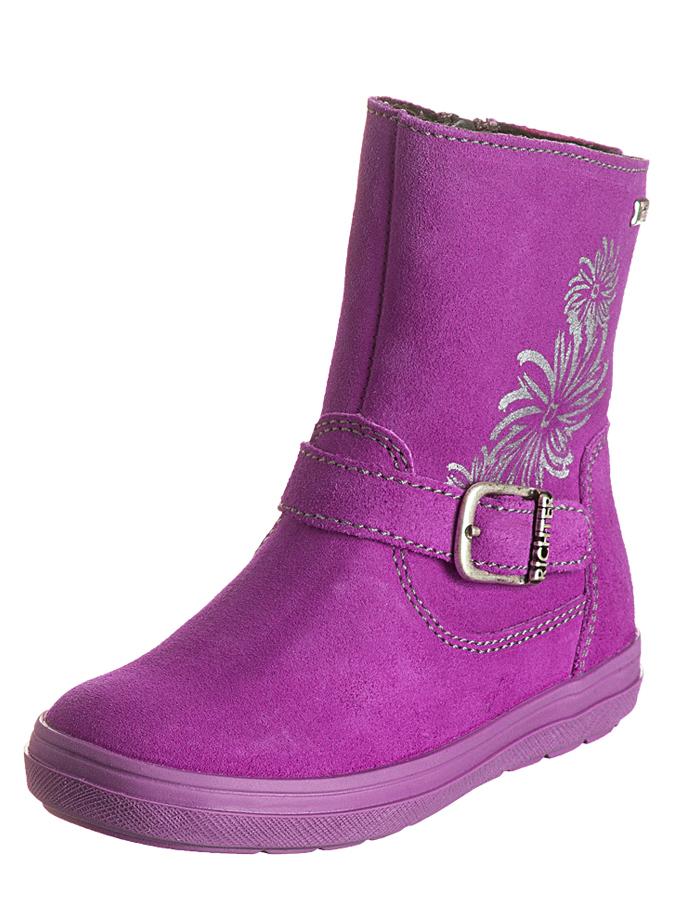 Richter Shoes Leder-Boots in Lila - 70% | Größe 26 Kinderboots