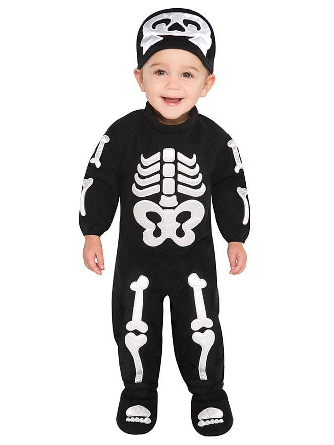 Amscan 2tlg. Kostüm ´´Bitty Bones´´ in Schwarz - 65% | Größe 68-80 Kinder verkleidung