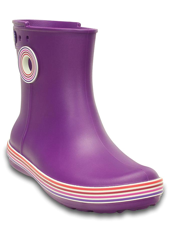 Crocs Gummistiefel Jaunt Stripes in Lila - 59%   Größe 34/35   Damen outdoorschuhe