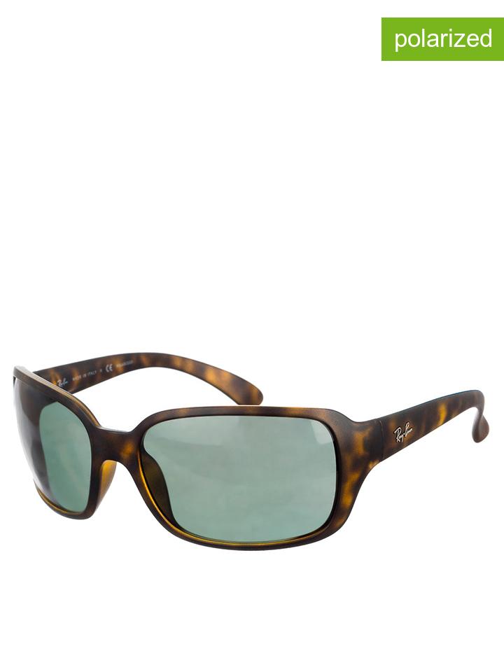 Ray Ban Damen-Sonnenbrille ´´Jantek´´ in Havana Graugrün -37 Größe 60 Sonnenbrillen