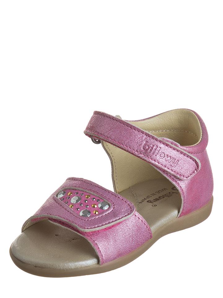 Billowy Leder-Sandalen in pink -49% | Größe 23 Sandalen