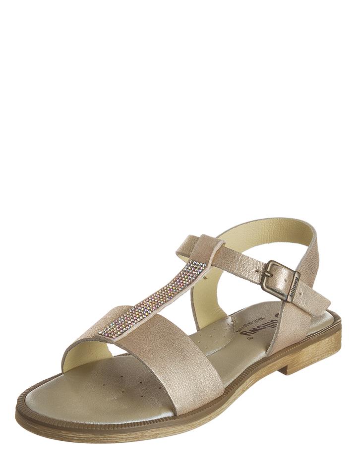 Billowy Leder-Sandalen in Beige - 70% | Größe 33 Kindersandalen jetztbilligerkaufen