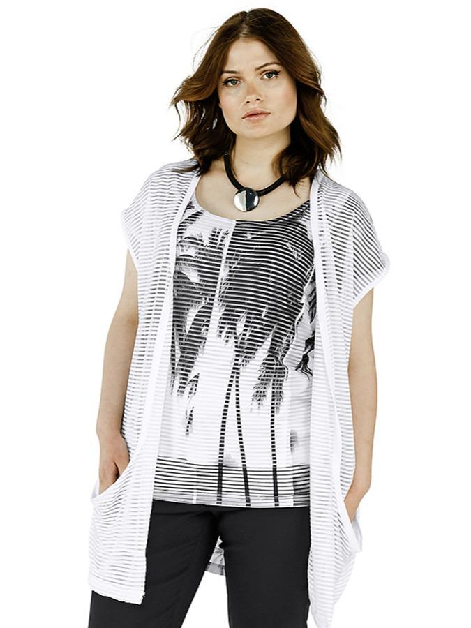 Sheego Cardigan in Weiß - 59% | Größe 48/50 Damen pullover