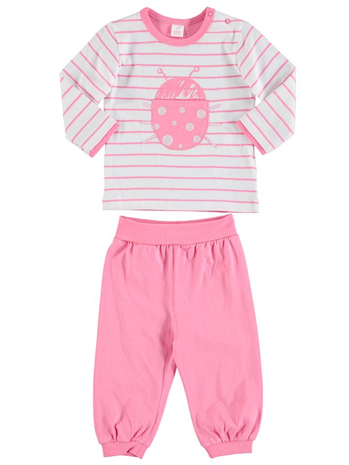 Kanz Pyjama in rosa -64 Größe 68 Pyjamas