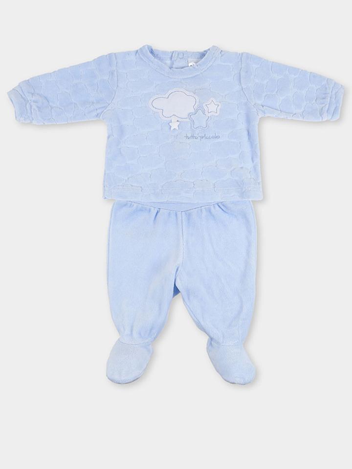 Tutto Piccolo Pyjama in Hellblau -54 Größe 80 Pyjamas