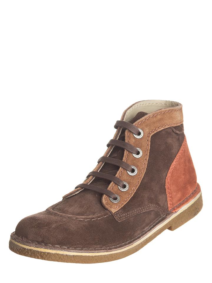 Kickers Leder-Schnürschuhe ´´Legendoknew´´ in braun -44% | Größe 36 Schnürschuhe Sale Angebote Tettau