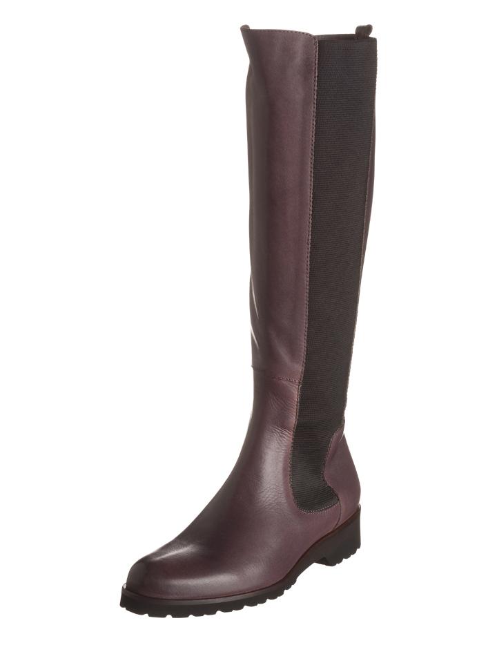 Otto Kern Leder-Stiefel in Mauve - 58% | Größe 39 Damen stiefel