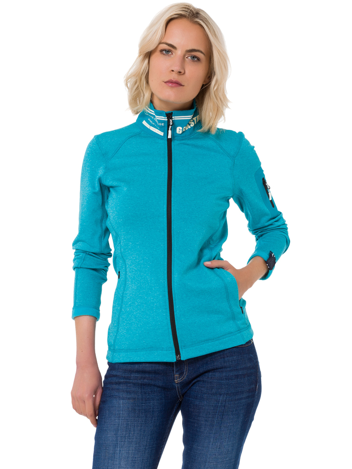 GAASTRA Fleecejacke ´´Hermitage Bay´´ - Regular fit - in Türkis - 64 Größe S Damen outdoorjacken