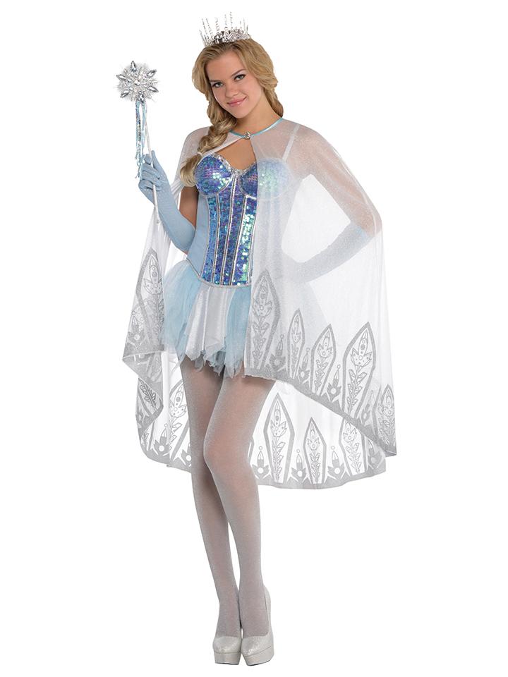 Amscan Kostüm-Cape ´´Eisfee´´ in Weiß -62% | Kostüme Sale Angebote Lieskau