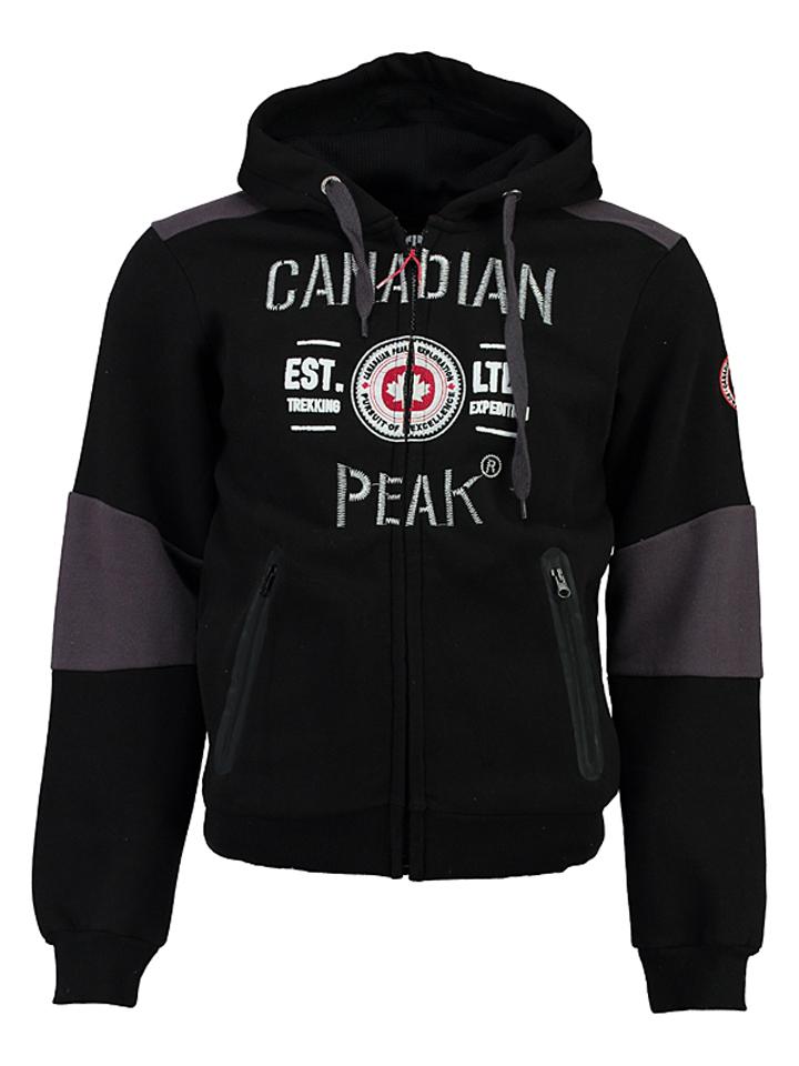 Canadian Peak Sweatjacke ´´Funtor´´ in Schwarz - 71% | Größe S Herren pullover sport
