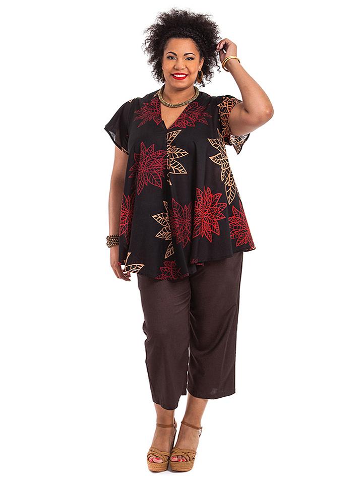 Aller Simplement Tunika in Schwarz - 69% | Größe 54-58 Damen blusen