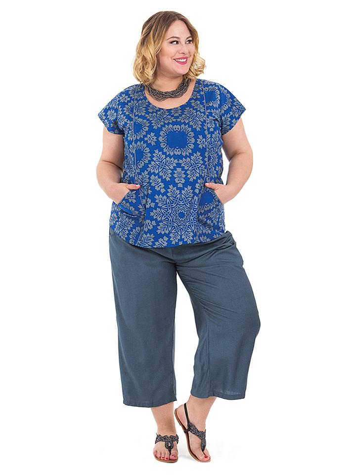Aller Simplement Shirt in Blau - 64% | Größe 54-58 Damen tops