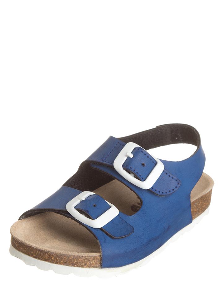 Kmins Leder-Sandalen in Blau -70% | Größe 33 Sandalen Sale Angebote Guhrow