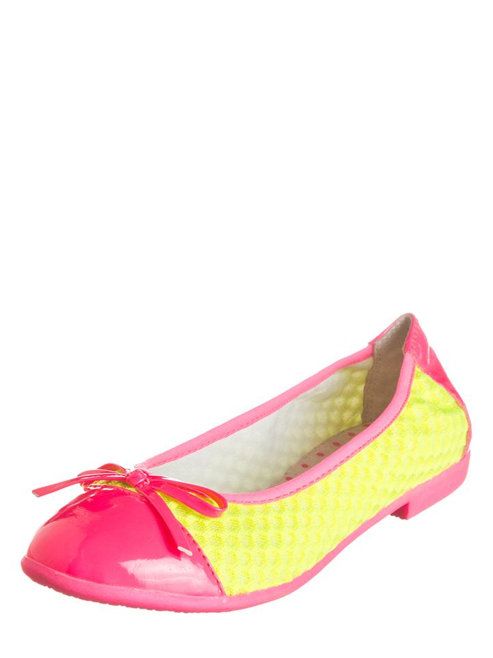 Lelli Kelly Ballerinas in pink/ Neongelb -39% | Größe 28 Sale Angebote