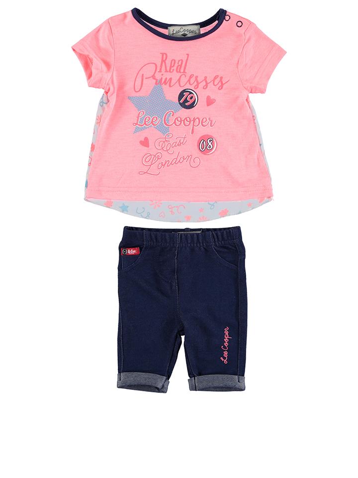 Hornow-Wadelsdorf Angebote Lee Cooper 2tlg. Outfit in Neonpink - 65% | Größe 74 Baby shirts