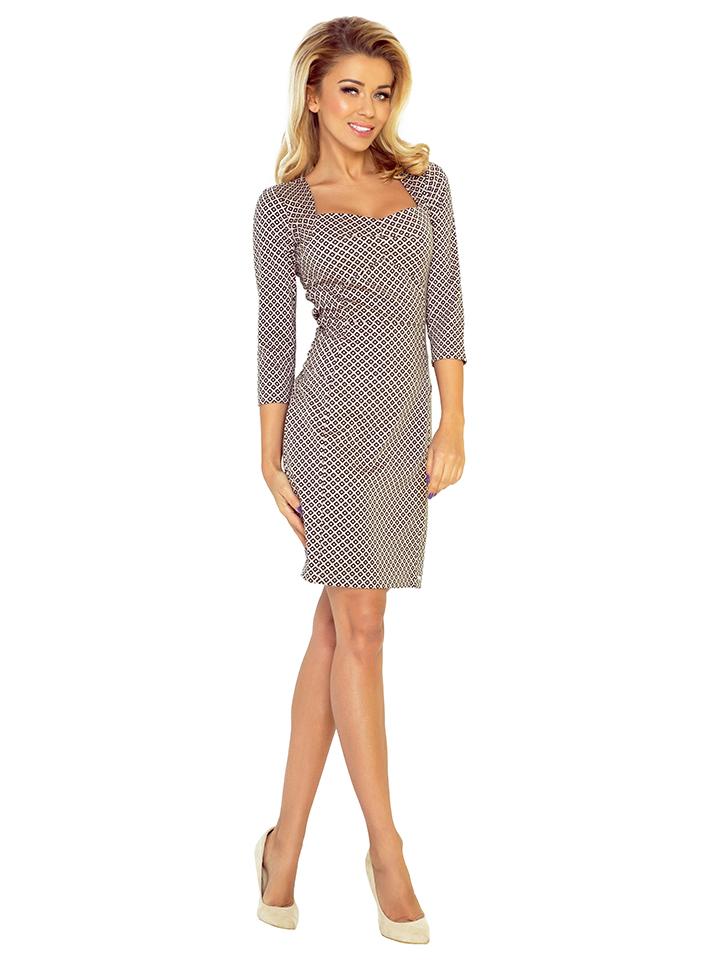 Numoco Kleid in beige -59% | Größe L Kurze Kleider Sale Angebote Schwarzheide