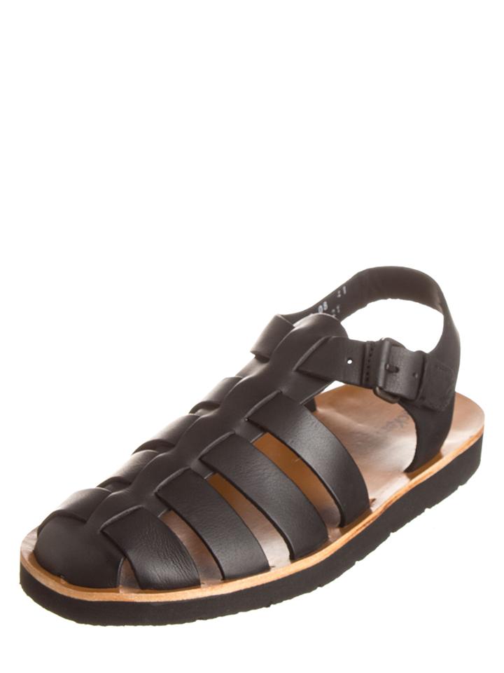 Kickers Leder-Sandalen ´´Bresty´´ in Schwarz -41% | Größe 44 Sandalen Sale Angebote Schwarzheide