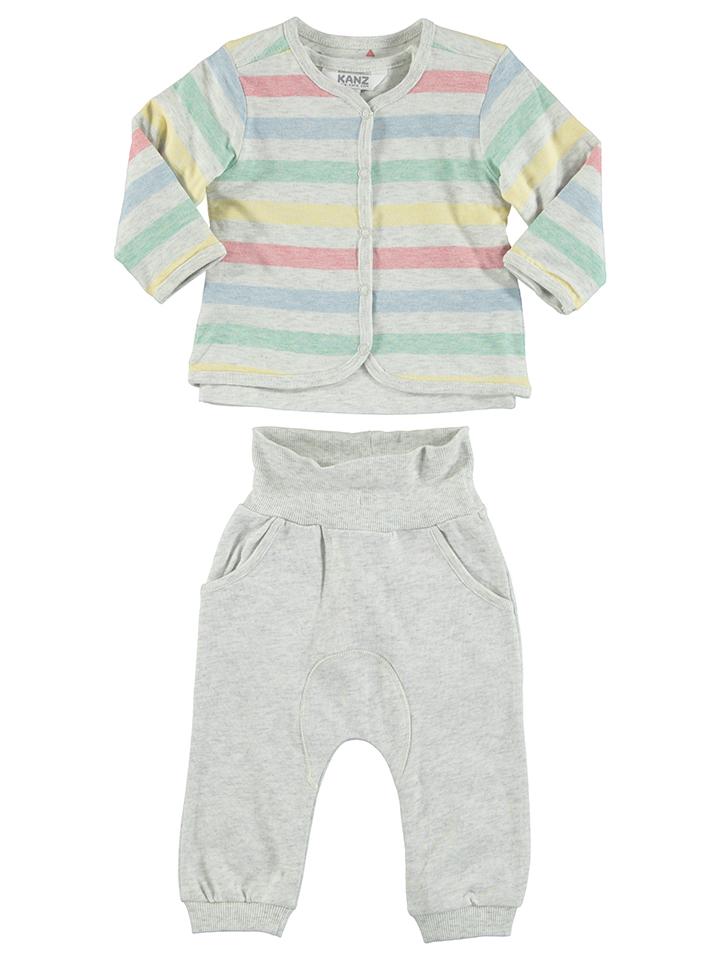 Kanz 3tlg. Outfit in creme -59% | Größe 80 Longsleeve Sale Angebote Gastrose-Kerkwitz