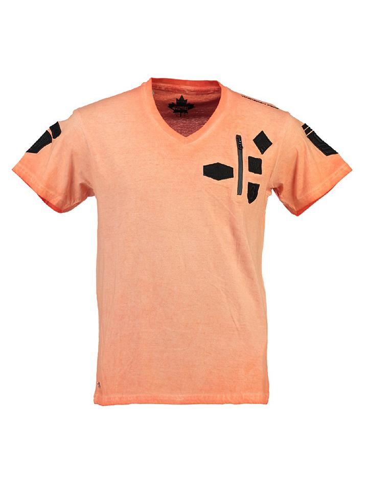 Canadian Peak Shirt ´´Jagger´´ in Koralle -72% | Größe S T-Shirts Sale Angebote Terpe