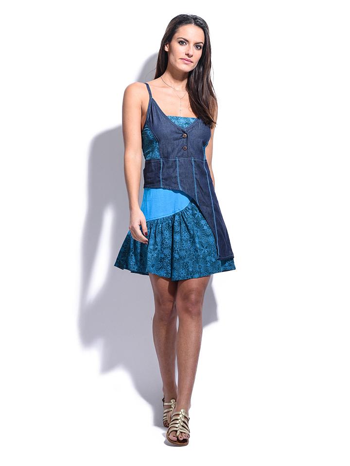 Namaste Kleid ´´Elisa´´ in Blau -59% | Größe 40/42 Kurze Kleider