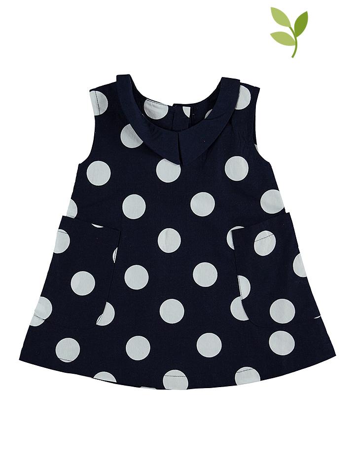 Green Cotton Kleid in Dunkelblau - 62% | Größe 98 Kinderkleider
