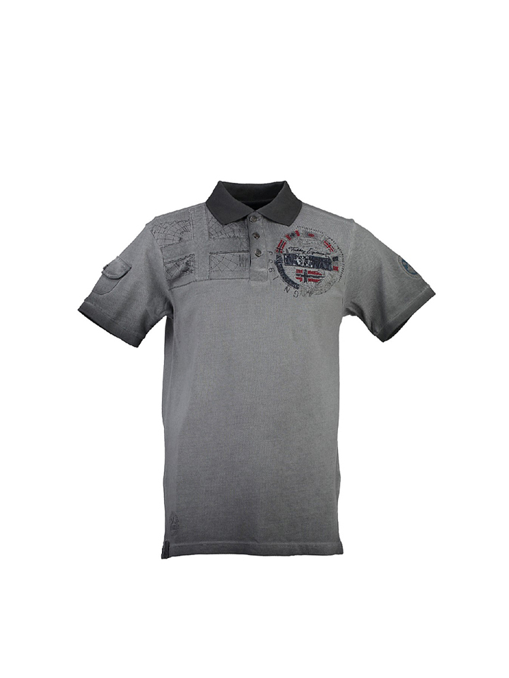 Geographical Norway Poloshirt ´´Kidael´´ in Anthrazit -62% | Größe 128 Kurzarm Poloshirts Sale Angebote