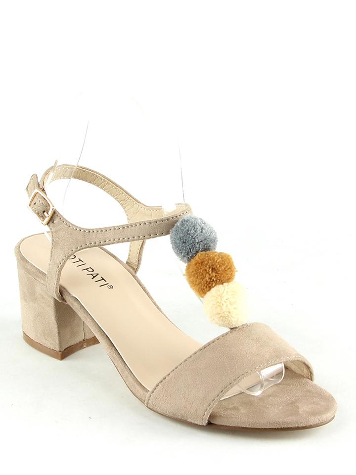 Poti Pati Sandaletten in beige -60% | Größe 40 | Hohe Sandaletten