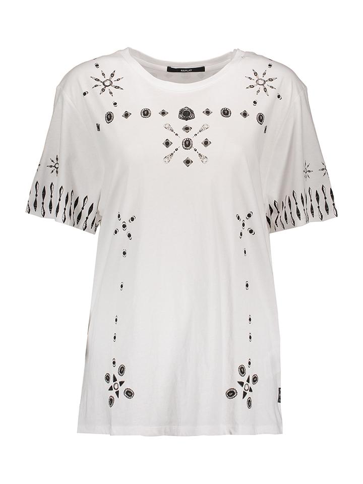 Replay Shirt in Weiß -62% | Größe XS T-Shirts Sale Angebote Lieskau
