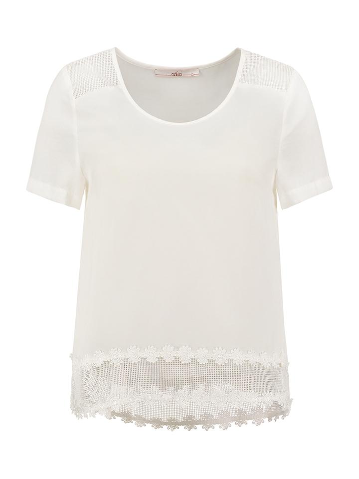 Aaiko Shirt ´´Solivia´´ in Weiß -55%   Größe M Kurzarm Tops Sale Angebote Hohenbocka