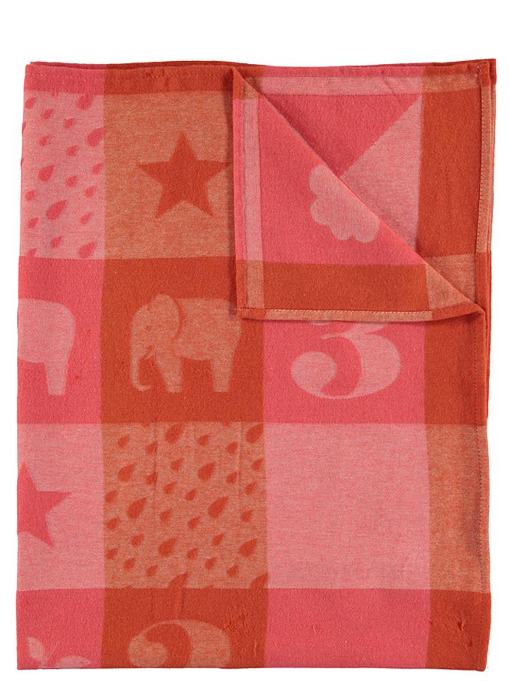 Proschim Angebote David Fussenegger Kinderdecke ´´Ida - Patch´´ in Rot 51% | Größe 100x140 cm Decken