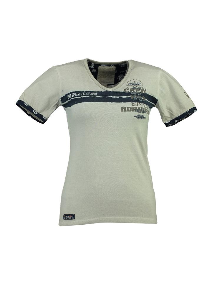 Geographical Norway Shirt ´´Jilove´´ in beige -61% | Größe XXL T-Shirts Sale Angebote Lieskau