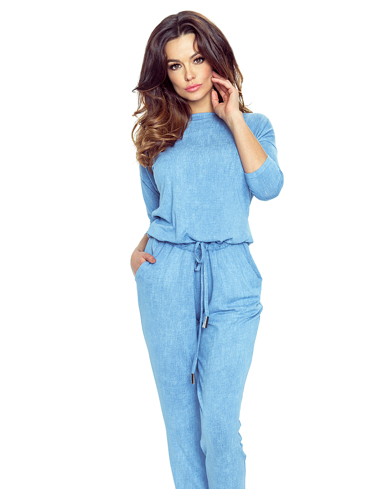 BERGAMO Jumpsuit in Blau - 63% | Größe XL Damenhosen - broschei