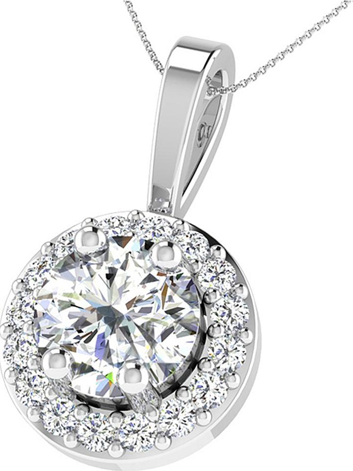 Diamant Vendôme Silber-Halskette mit Diamanten - (L)43 cm -71% | Halsketten Sale Angebote Cottbus