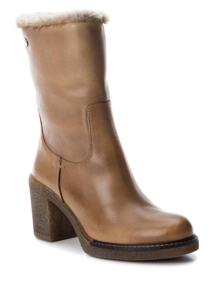 CARMELA Leder-Stiefeletten in Taupe - 34% | Größe 41 Stiefeletten