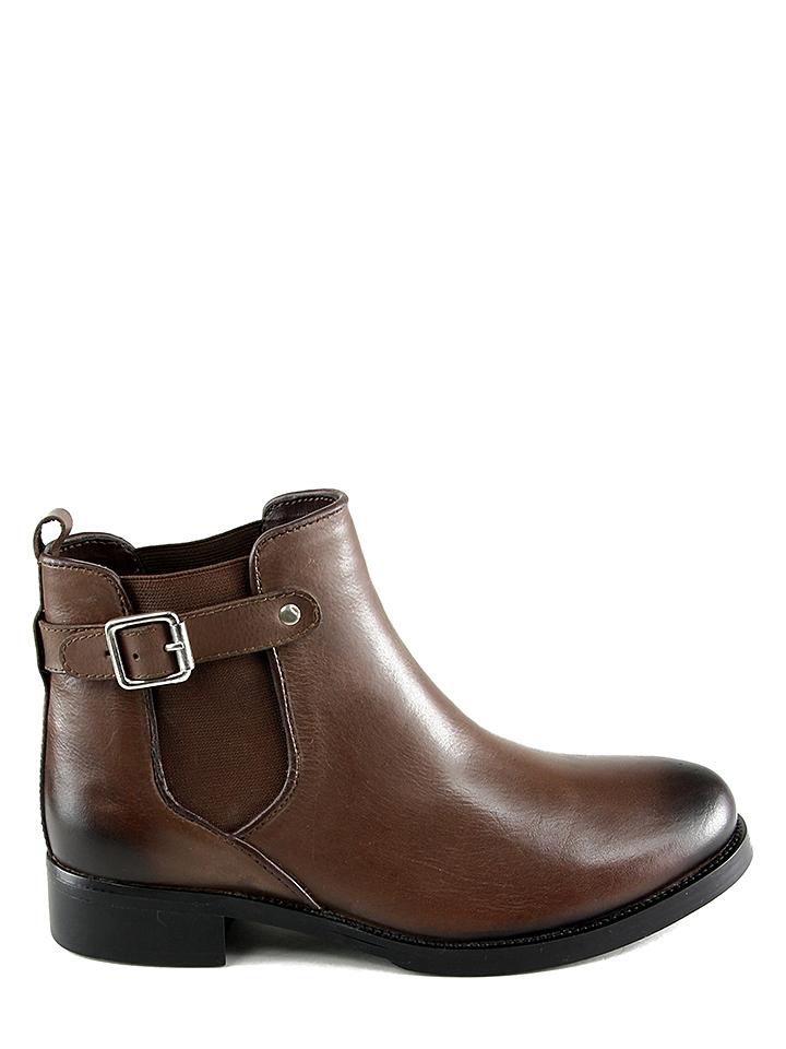 Ornella Dutti Leder-Chelsea-Boots ´´Anna´´ in Braun - 49% | Größe 39 Stiefeletten
