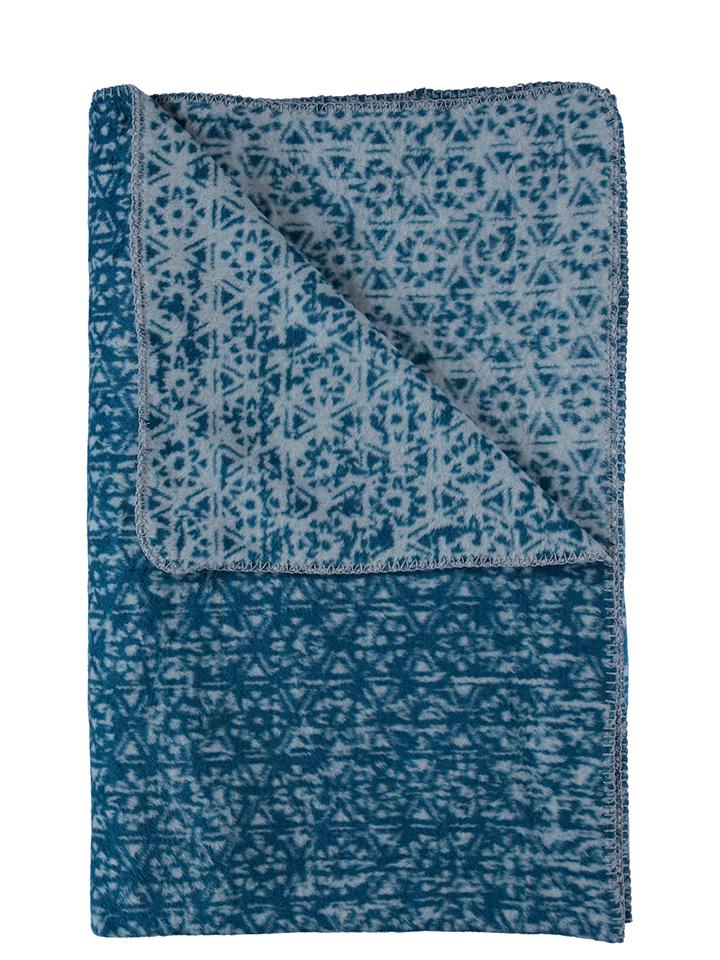 Graustein Angebote David Fussenegger Wohndecke ´´Split - Kleinmuster´´ in Blau 49% | Größe 150x200 cm Decken