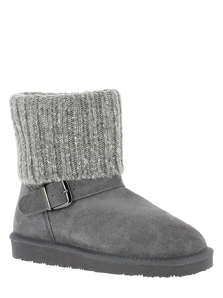 Minnetonka Leder-Boots in Grau - 38% | Größe 38 | Stiefeletten