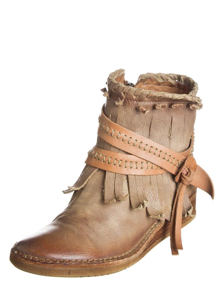 Lazamani Leder-Boots in Hellbraun - 44% | Größe 40 Stiefeletten