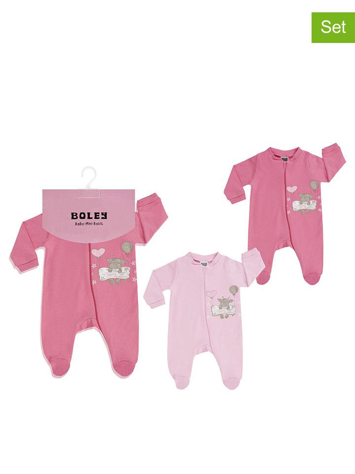 Jacky 2er-Set Schlafanzüge in Rosa - 39 Größe 50 56 Baby waesche