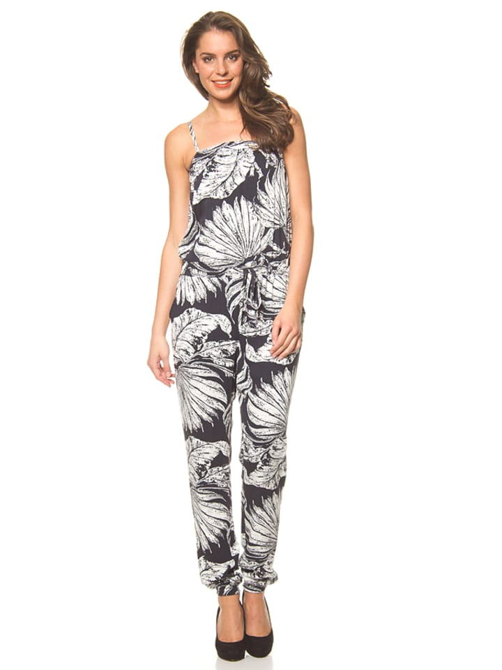 desigual jumpsuit aloha in schwarz wei. Black Bedroom Furniture Sets. Home Design Ideas