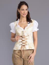 Dirndl Couture by Astrid Söll Trachten-Corsage in creme/ beige