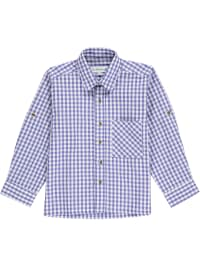MADDOX Trachtenhemd in blau/ weiß