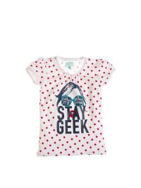 """Retour T-Shirt mit Tupfen """"Lindsy"""" in weiß/ rot"""