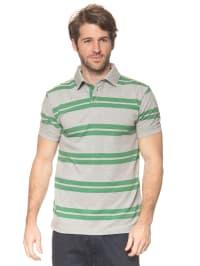Tom Tailor Poloshirt in Grau/ Grün
