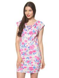 """Vero Moda Kleid """"Con Flower"""" in Weiß/ Rosa"""