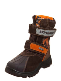 "Naturino Klettstiefel ""Feruc"" in braun/ orange"