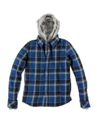 Diesel Kid Hemd mit Kapuze in blau