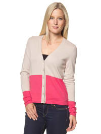 Marc O'Polo Cardigan in beige/ pink